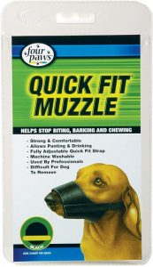 Four Paws Quick Fit Dog Muzzle, Black