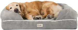 Friends Forever Orthopedic Dog Bed Lounge Sofa Removable Cover 100% Suede 2.5 5 Mattress Memory Fo