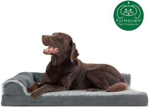 Furhaven Pet Dog Bed Ergonomic Contour Lounger & Therapeutic Sofa Style Living Room Couch & Pet Be (3)