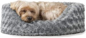 Furhaven Pet Dog Bed Round Oval Cuddler Nest Lounger Pet Bed For Dogs & Cats Available In Multi