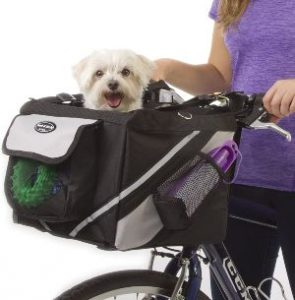 Jack And Dixie Traveler 2 In 1 Pet Bike Basket And Over The Shoulder Carrier