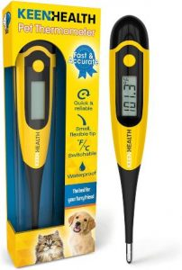 Keenhealth Digital Pet Thermometer For Rectal Use Dogs, Cats, And Other Small Pets Dog Thermomet