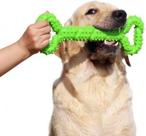 Lechong Durable Dog Chew Toys 13 Inch Bone Shape Extra Large Dog Toys With Convex Design Strong Tug
