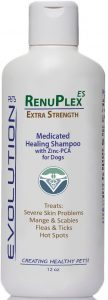 Medicated Dog Mange Shampoo. Antifungal Renuplex Extra Strength Mange Shampoo For Dogs Eliminates Ma