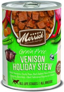 Merrick Grain Free All Breed Sizes Wet Dog Food, 12.7 Oz Cans, Case Of 12