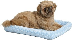 Midwest Bolster Pet Bed Dog Beds Ideal For Metal Dog Crates Machine Wash & Dry (1)