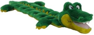 Outward Hound Squeaker Matz Squeaky Dog Toy – Interactive Cuddly Gator Soft Toy For Dogs Tough & D