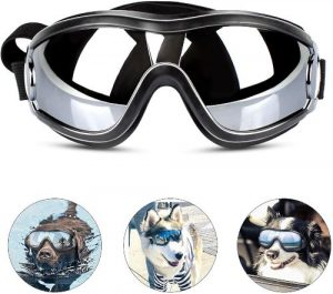 Pedomus Dog Sunglasses Dog Goggles Adjustable Strap For Travel Skiing And Anti Fog Dog Snow Goggles