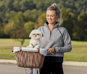 Petsafe Happy Ride Wicker Bicycle Basket For Dogs And Cats Stylish Weather Resistant Wicker Materi