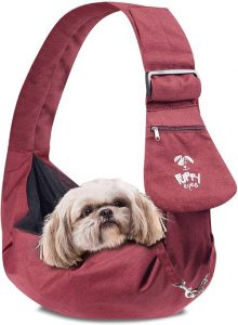 Puppy Eyes Waterproof Pet Carrier Sling Comfortable And Adjustable Dog Sling Ideal For Small And Med