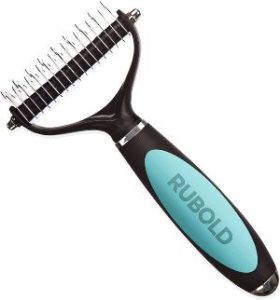 Rubold Dematting Tool For Dogs Cat And Dog Brush For Shedding And Removing Mats Undercoat Rake C