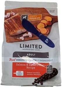 Simply Nourish Adult Salmon And Sweet Potato Dry Dog Food, 4 Lbs And Especiales Cosas Mixing Spatul