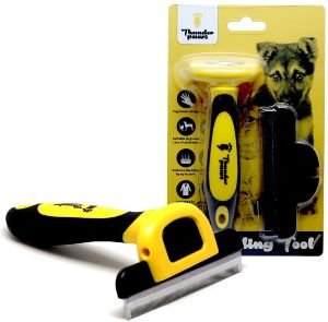 Thunderpaws Best Professional De Shedding Tool And Pet Grooming Brush, D Shedz For Breeds Of Dogs, C