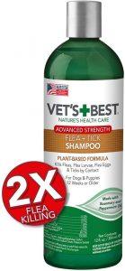 Vet's Best Flea And Tick Advanced Strength Dog Shampoo Flea Treatment For Dogs Flea Killer With