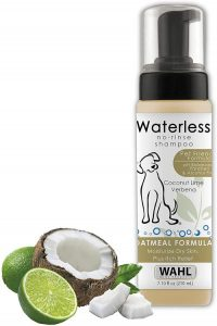 Wahl Pet Friendly Waterless No Rinse Shampoo For Animals – Oatmeal & Coconut Lime Verbena For Cleani