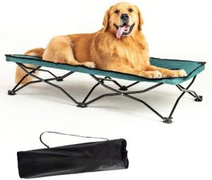 Yep Hho Large Elevated Folding Pet Bed Cot Travel Portable Breathable Cooling Mesh Sleeping Dog Bed