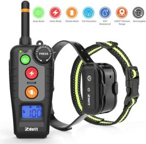 Zdatt Shock Collar For Dogs [2020 Latest Vesion] Dog Training Collar W 3 Training Modes Dog Shock Co