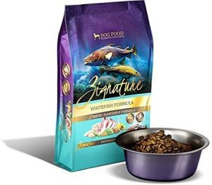Zignature Whitefish Limited Ingredient Dog Food. (4 Lb. Bag) Made From Pacific Whitefish