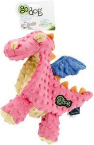 Godog Periwinkle Dragons Dog Toy