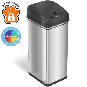 Itouchless 13 Gallon Pet Proof Sensor Trash Can