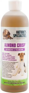 Nature's Specialties Almond Crisp Pet Shampoo for Dogs Cats, Non-Toxic Biodegradable