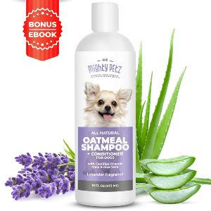 2 In 1 Oatmeal Dog Shampoo And Conditioner – All Natural Relief For Itchy, Dry, Sensitive Skin With