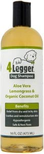 4legger Usda Certified Organic Dog Shampoo All Natural And Hypoallergenic With Aloe And Lemongrass, Soothing For Normal, Dry, Itchy Or Allergy Sensitive Skin Biodegradable Made In Usa 16 Oz