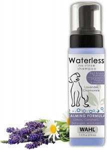 Wahl Pet Friendly Waterless No Rinse Shampoo for Animals – Lavender & Chamomile for Cleaning, Conditioning, Detangling & Moisturizing Dogs, Cats & Horses – 7.1 Oz, Model:820014A
