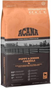 Acana Dog Puppy & Junior Protein Rich, Real Meat, Grain Free, Dry Dog Food