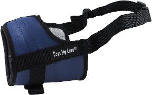Adjustable Dog Muzzle 6 Sizes Blue