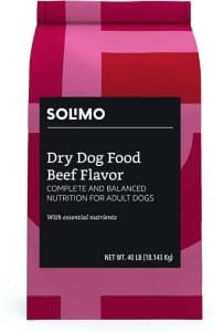 Amazon Brand Solimo Basic Dry Dog Food With Grains (chicken Or Beef Flavor)