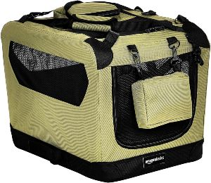 Amazonbasics Premium Folding Portable Soft Pet Dog Crate Carrier Kenne