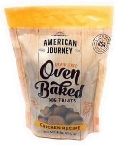 American Journey Grain Free Oven Baked Chicken Recipe Dog Treats (1 8 Oz Bag)