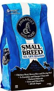 Annamaet Small Breed All Life Stages Dry Dog Food 12 Lb Bag. With Chicken, Herring & Rice.