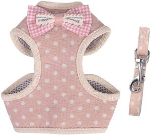 April Pets Comfortable Stylish Cotton Dog & Cat Harness Leash Set For Small Puppies And Cats