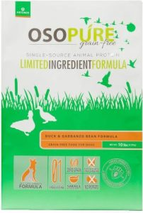 Artemis Osopure Dry Pet Food Grain Free Limited Ingredient Single Dual Source Protein Nutrition Al