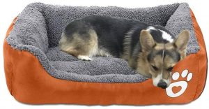 Asfrost Dog Bed Super Soft Pet Sofa Cats Bed,non Slip Bottom Pet Lounger,self Warming And Breathable