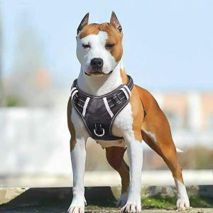 Babyltrl Big Dog Harness No Pull Adjustable Pet Reflective Oxford Soft Vest For Large Dogs Easy Cont (1)