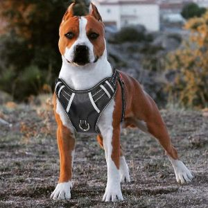 Babyltrl Big Dog Harness No Pull Adjustable Pet Reflective Oxford Soft Vest For Large Dogs Easy Cont (2)