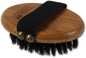 Bamboo Groom Palm Held Brush For Pets