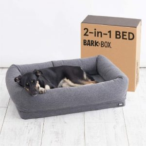 Barkbox 2 In 1 Memory Foam Dog Cuddler Bed Plush Orthopedic Joint Relief Crate Lounger Or Donut Pi