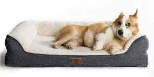 """Bedsure 28"""" 36"""" 42"""" Orthopedic Pet Sofa Beds For Small, Medium, Large Dogs & Cats Large Dog Beds"""