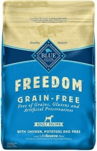 Blue Buffalo Freedom Grain Free Natural Adult Dry Dog Food, Chicken 24 Lb
