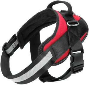 Bolux Service Dog Harness, Easy On And Off Pet Vest Harness, 3m Reflective Breathable And Easy Adjus