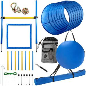 Cheering Pet Dog Agility Equipment, 28 Piece Dog Obstacle Course For Training And Interactive Play I