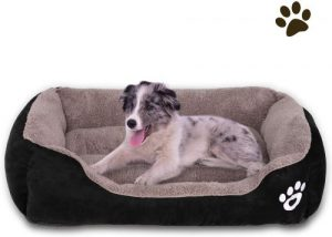 Cloudzone Dog Bed Machine Washable Rectangle Breathable Soft Cotton With Nonskid Bottom Extra Large