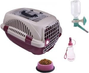 Choco Nose Small Dog Cat Kennel Set. Durable Top Load Two Wire Doors Pet Travel Carrier, Crate For P