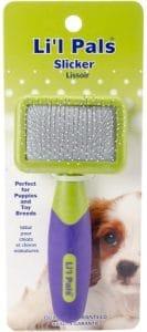 Coastal Li'l Pals Slicker Purple And Green Brush For Dogs, Extra Small