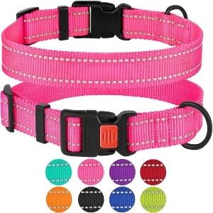 Collardirect Reflective Dog Collar With Buckle Adjustable Safety Nylon Collars For Dogs Small Medium