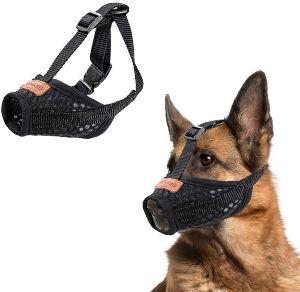 Coozero Dog Muzzle, Nylon Dog Muzzle Mouth Cover, Air Mesh Pet Muzzle For Anti Biting Anti Barking L